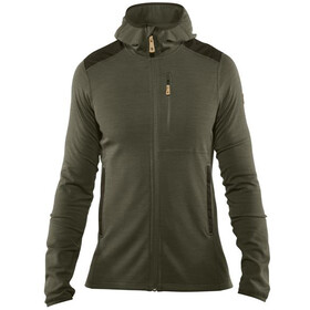 Fjällräven Keb Fleece Hoodie Heren, laurel green-deep forest